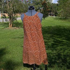 Giraffe print, summer dress